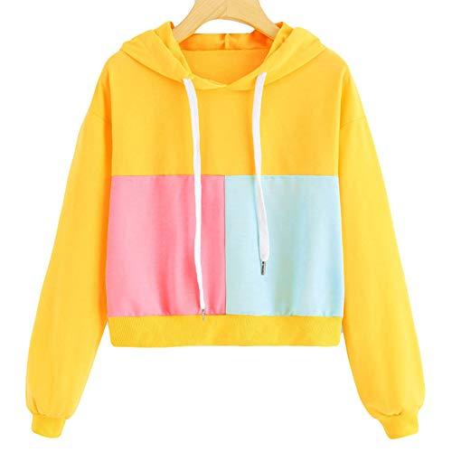 Camisa con Capucha para Mujer, suéteres de Manga Larga para Mujer, suéter con Capucha, Chaqueta de Chaqueta de Jersey de Ropa Deportiva de Moda C1-Medium