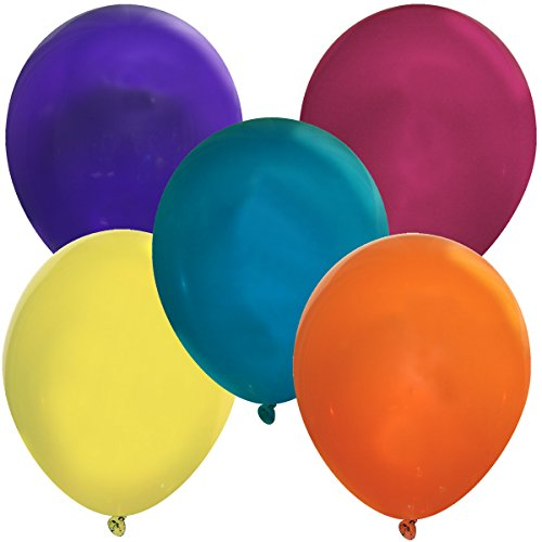 Creative Balloons 5' Latex Balloons - Pack of 144 Piece - Decorator Assorted Colors
