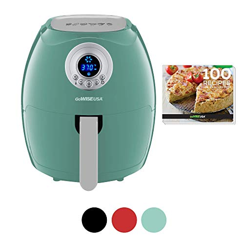 GoWISE USA GW22961 3.7-Quart Digital Air Fryer + 100 Recipes, Mint