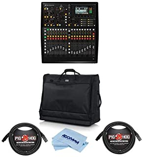 Behringer X32 PRODUCER 40-Input, 25-Bus Rack-Mountable Digital Mixing Console - Bundle With Gator Padded Nylon Carry Bag, 2x 10' 8mm XLR Mic Cable 3 Pin XLR Male to 3 Pin XLR Female, Microfiber Cloth
