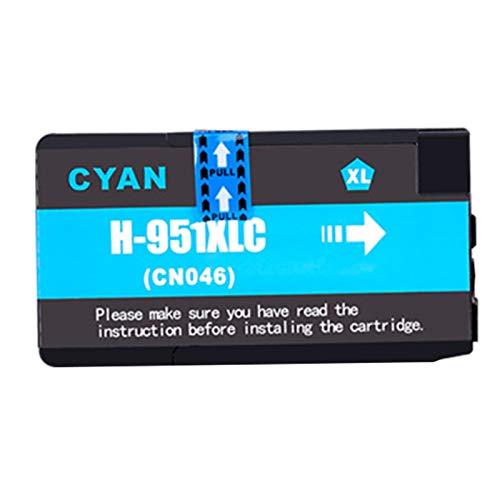 Cartuchos de tinta 950XL 951XL, cartucho de impresora de inyección de tinta para HP Officejet Pro 8100 8610 8600 8600 Plus 276dw 251dw de alto rendimiento de repuesto color negro (paquete de 4)