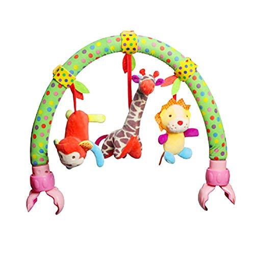 SNIIA Baby Kinderwagen Kinderbett Spielbogen Plüsch Sunny Spielzeug Kinderwagen und unterwegs Activity Bar mit Rassel und BB Gerät