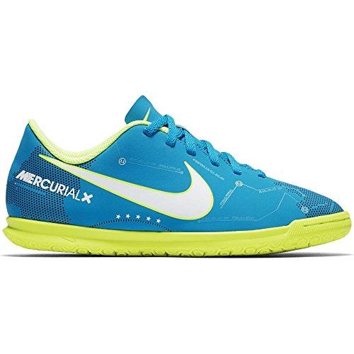 Nike–JR MercurialX VRTX III NJR IC Futsal von Neymar Jr, Unisex Kinder, Blau (Blue Orbit/White-Blue Orbit-Armory Navy)