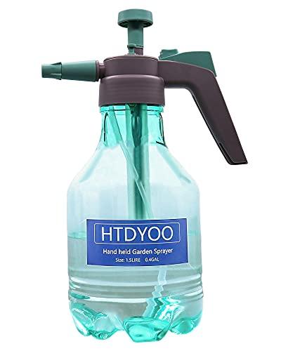 1.5Liter Hand Pump Sprayer, Garden Sprayer, Air Pressure Plastic Spray Bottle for Plant Flower, Pump Pressure Sprayer with Safety Valve Adjustable Nozzle for Lawn Garden