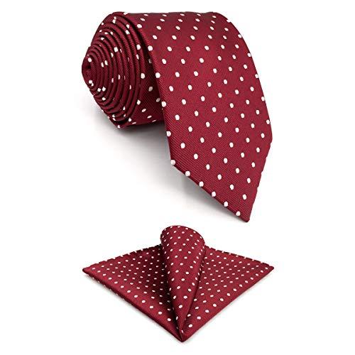 shlax&wing Gris Corbatas Para Hombre Puntos Corbata Flaca Puntos Traje de negocios Nuevo (Corbata 147cm x 8cm + Pañuelo De Bolsillo)