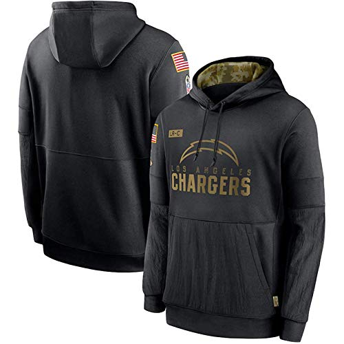 Saints Bears Dolphins and Chargers Herren Rugby-Trikot Hoodie für Männer, Sport-Pullover Sweater Jersey, Fan Jersey Hoodie (S-XXXL) Chargers-S