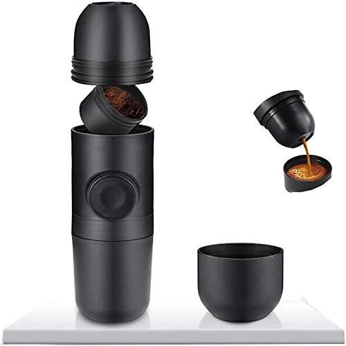 Sebasty Máquina portátil de Espresso E Máquina de Viajes pequeños E para Viajar, hogar y Oficina
