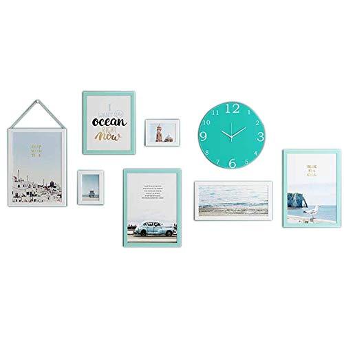 Fotomuur, Nordic Solid Wood slaapkamer fotolijst met hangende wanddecoratie (151 * 69cm), pak van 7,