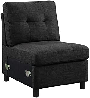 DAZONE Modern Armless Accent Chair/Single Seat Reception Sectional Sofa, 23