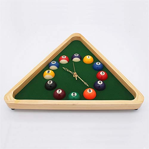 Yqs Wanduhr Billiard Pool Ball Produkt Zubehör Club 33cm Billiard Pool Ball Dreieck Uhr