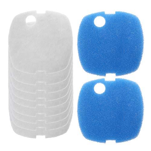 Ycncixwd Aquarium-Filterpads für HW-302/505A, 10 Stück