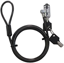 Sendt Black Notebook/Laptop Keyed Lock Security Cable