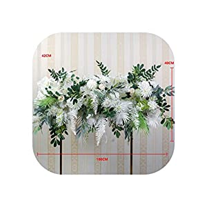 Heart-To-Heart Artificial Flower Decor Wedding Arch Arrangement Silk Flower Party Scene Layout Road Guide Flower Row T Stage Backdrop Wall,A 4