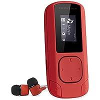 Energy Sistem MP3 Clip (Reproductor de música MP3 con Pantalla LCD, 8GB, Tarjeta MicroSD, Radio FM y Auriculares intrauditivos incluidos) – Rojo Coral