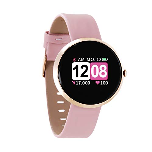 X-WATCH 54036 SIONA COLOR FIT Farb-TFT Damen Smartwatch, Activity Tracker für Android und Apple iOS Rose Gold