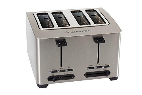 Home Essentials–Tostapane/scalda panini Toa-8083V2A [tostapane per 4fette, 2x, röstgrad variabile, Krümmel cassetto, max. 1500Watt]
