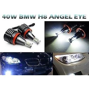 BMW H8 HB3 40W CREE LED Angel Eye Halo Anillo Xenon Blanco Bombilla libre de errores
