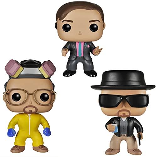 3Pcs / Set Movie Series Pop Figures Breaking Bad Pop Heisenberg # 162 Saul Goodman # 163 Walter...