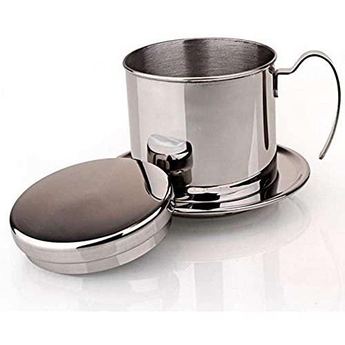 Gmasuber Kaffeebereiter Filter Set, Vietnam-Stil Kaffeebecher, Tragbare Kaffeemaschine, Edelstahl Kaffee Tropffilter Kaffeebereiter, für Zuhause, Büro, Camping, Reisen