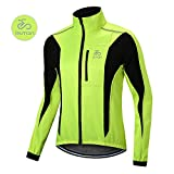 OUTON Winddichte Fahrradjacke Männer Radsport-Jacken für Herren MTB Mountainbike Jacket Visible reflektierend Fleece Warm Jacket