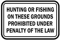 ヴィンテージの金属看板男の洞窟の装飾狩猟や釣りは法律の罰則の下で禁止されています、屋内屋外壁の装飾ヴィンテージの警告ティンサイン、家の装飾ティンサイン