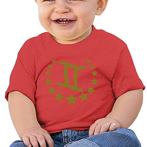 Pmguerxbfhyd Infant Short Sleeves T Shirts Gemini Star for Baby Girls Boy