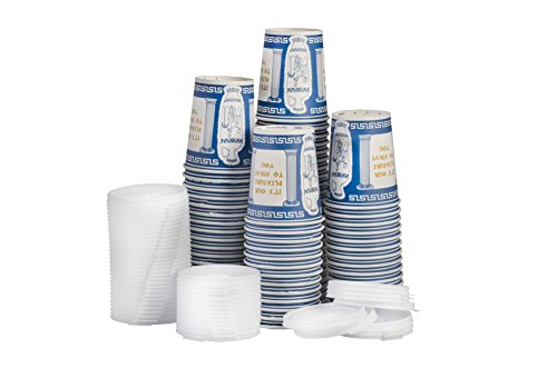 Ny Coffee Cup Gg (100 Paper Cups with 100 Lids)