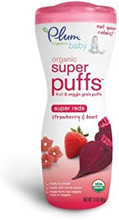 Plum Organics Super Puffs - Strawberry & Beet - 1.5 oz