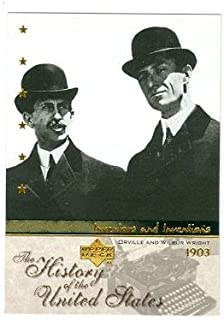 Wright Brothers trading card (Inventor Air Planes Flight) 2004 Upper Deck #II10 Orville and Wilbur Wright