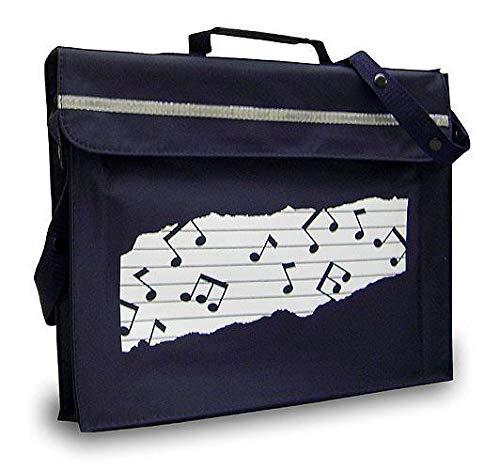 Mapac Navy Primo Music Book Carrier Muiscal Notes