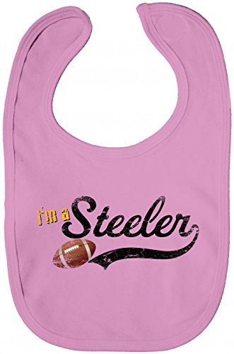 I'm a Steeler #1 Babybib | Football | Super Bowl | Play Offs | USA |, Farbe:Rosa (Bubble Gum Pink BZ12);Größe:OneSize