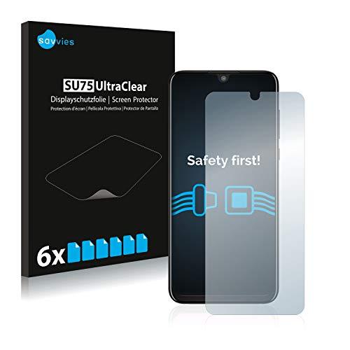 Savvies 6X Schutzfolie kompatibel mit Motorola One Zoom Bildschirmschutz-Folie Ultra-transparent