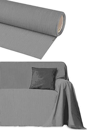 Funda para sofá de algodón de 2, 3, 4 y 5 plazas, artesanal, no necesita planchado, tamaño grande, para decoración de sofá, esquinas, chaise longue (gris, acero, 4 plazas)