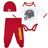 NFL Kansas City Chiefs 3 Pack Bodysuit Footed...