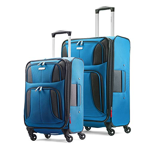 Samsonite Aspire Xlite Softside Expandable Luggage with Spinner Wheels, Blue Dream, 2-Piece Set (20/25)