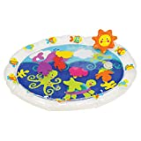 Earlyears Fill 'N Fun Water Play Mat - Encourage Tummy Time with 6 Fun Floating Sea Friends to Discover, Multi, 21 L x 17 W x 2 H in