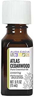 Aura Cacia Atlas Cedarwood Essential Oil | GC/MS Tested for Purity | 15ml (0.5 fl. oz.)