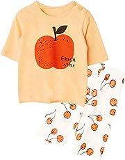 Unifriend 7分袖7分丈 女児 キッズ パジャマ オーガニック 綿100% 子供 ルームウェア ねまき 上下セット