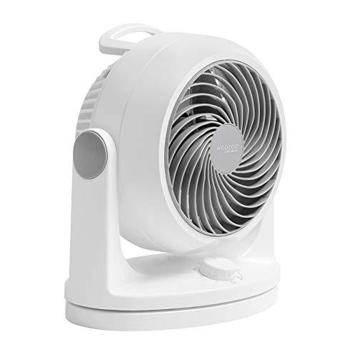 Iris Ohyama Ventilatore Silenzioso con Oscillazione Woozoo HD18, Plastica, Bianco, 34 W, 23 m², 29 x 19 x 31 cm
