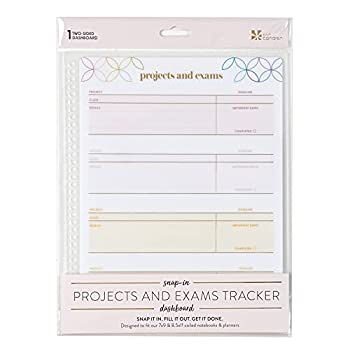 7  x 9  Snap-in Dashboard for Projects & Exams Two-Sided Wet Erase Surface Gold Metallic Accents Fits Spiral Notebooks 7  x 9  or Larger by Erin Condren.