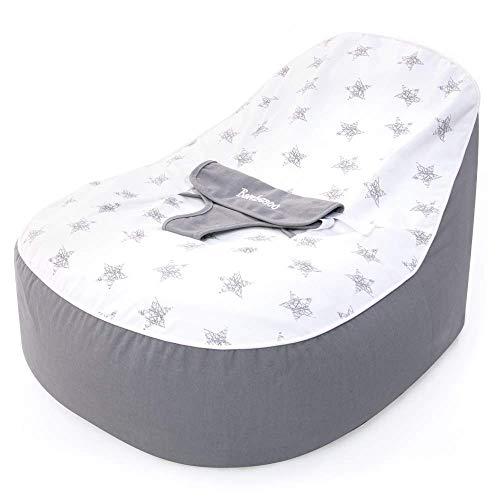 bambeano Support, Grey, Cuddle Soft Cotton Bean Bag Chair for Months Baby-Sitzsack, grau, kuschelweiche Baumwolle, für 0-6 Monate, Einheitsgröße