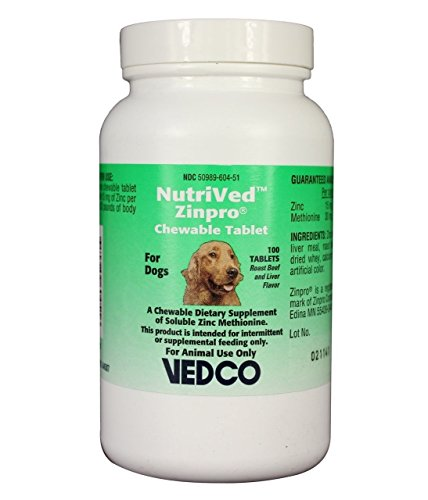 NutriVed ZinPro Chewable Tablets for Dogs (100 count)