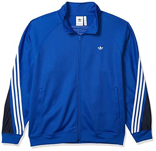 adidas Originals - Camiseta Deportiva para Hombre con 3 Rayas - Azul - Medium