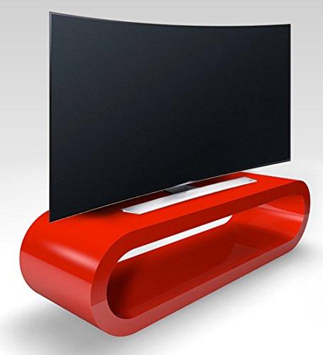 Zespoke Cerceau de Style Rétro Grande Rétro Rouge Brillant Meuble TV/Armoire Largeur de 110cm