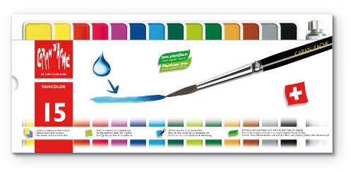 Caran d'Ache Fancolor Tempera, 15 Colors