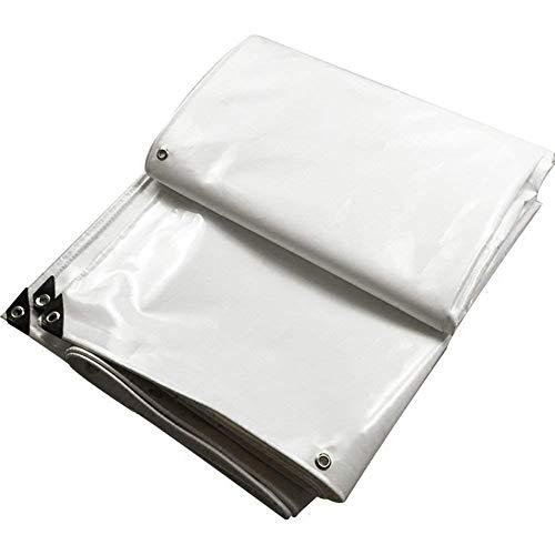 LIANGJUN Bâche De Protection Imperméable Résistant PVC Tressé Étanche Fournitures Jardinage en Tissu, 600G / M², 14 Tailles (Couleur : Blanc, Taille : 2.8x3.8m)