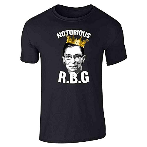 Pop Threads Notorious R.B.G. RBG Supreme Court Political Black 2XL Graphic Tee T-Shirt for Men