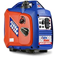 AlphaWorks 2250 Watts Super Quiet with (2) 120VAC 60Hz Sockets and (1) 12V DC Outlet Inverter Generator