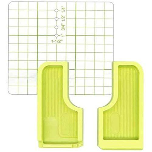 Costura Guía de costura Guía de asignación de placa de posicionamiento para máquina de coser doméstica multifunción Herramienta de costura de puntada paralela (2PCS)