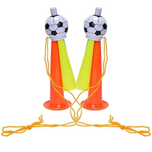 IYSHOUGONG 2 PCS 19CM Stadium Fan Cheer Plastic Horn Bugle Vuvuzela Soccer Football Sports Games Toy,Color Random